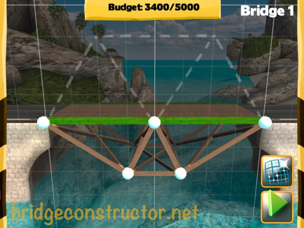 Picture of Bridge Constructor Walkthrough - Westland - Bridge 1 - Tank truck