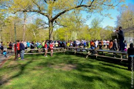 """""""I'd like to thank you all for coming out"""". Hawk welcomes the runners of the inaugural Beast 5K."""