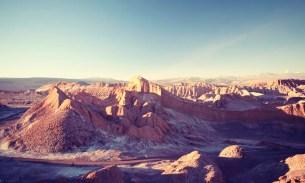 Walking on the moon and mars in San Pedro de Atacama