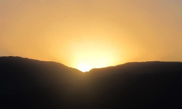 Sunset on Cerro San Bernardo