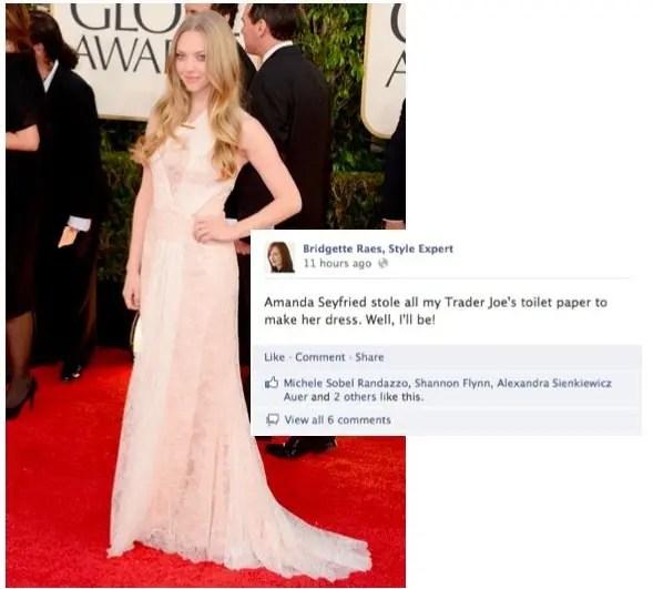 Amanda Seyfried Golden Globes Fashion 2013