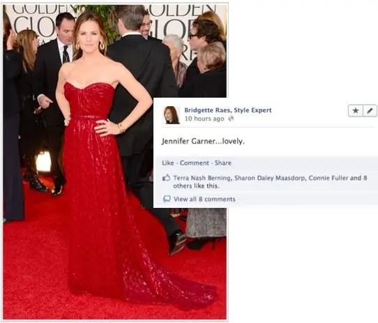 Jennifer Garner 2013 Golden Globes Fashion