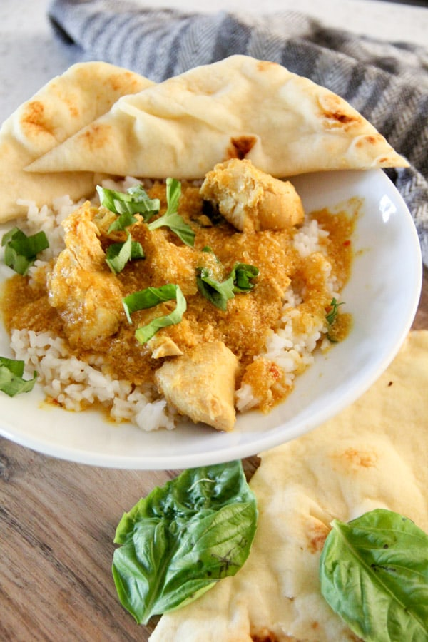 Crockpot Chicken and Squash Coconut Curry