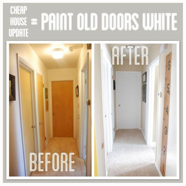 Hallway transformation for Wood doors painted white