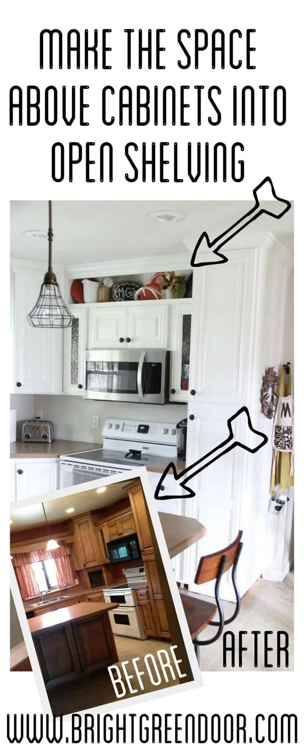 How To Build Open Shelving Above Cabinets For Custom Look