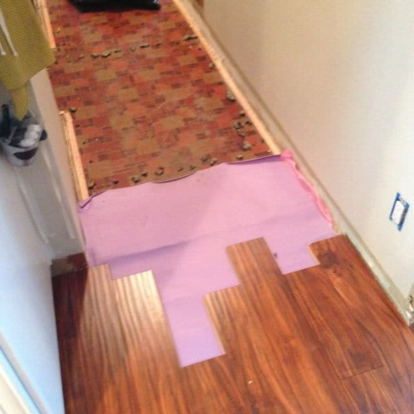 Tips for laying laminate flooring bright green door for Laminate flooring techniques