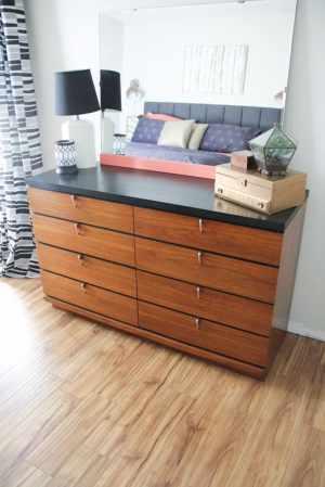 Two Tone Mid Century Dresser