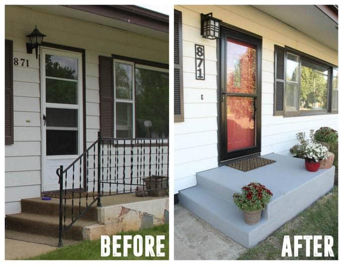Font Door Curb Appeal in Home Flip