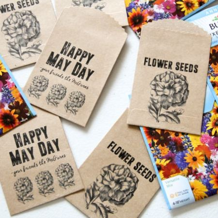 Free Printable Seed Packets for May Day