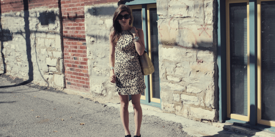 Cheetah Dress by Tibi
