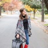 Plaid Cape and Hunters