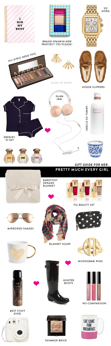Gift Guide For Pretty Much Every Girl