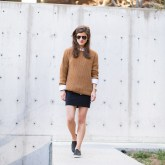 Transitional Look: The Skirt and Sweater Combo