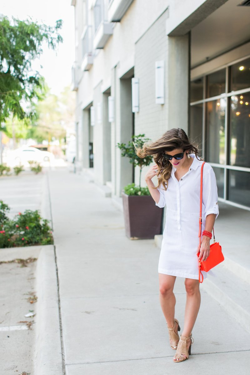 White Tunic Dress + Dry Shampoo