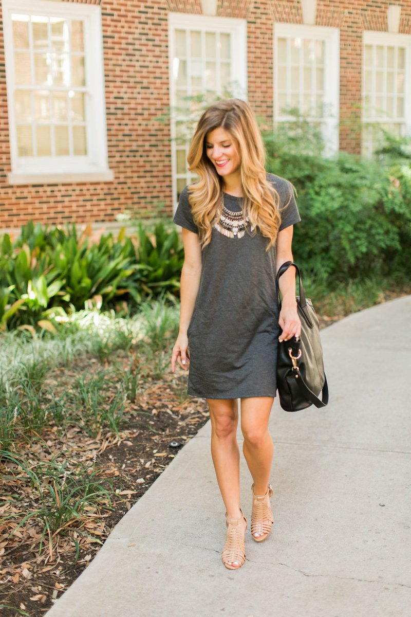 Grey Shift Dress