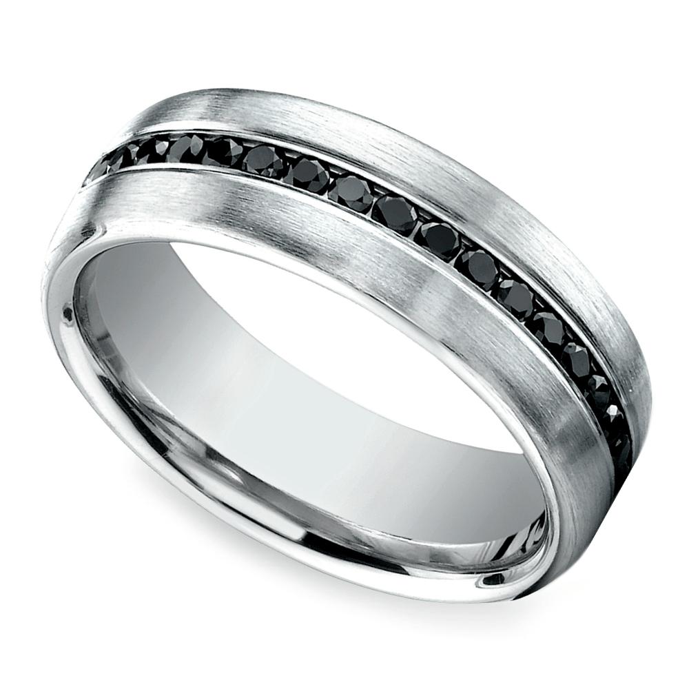top 10 mens wedding rings black mens wedding rings Channel Black Diamond Men s Wedding Ring in White Gold