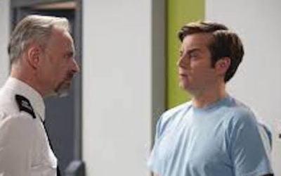 kevin bishop is fletch's grandson giving the prison officers a hard time