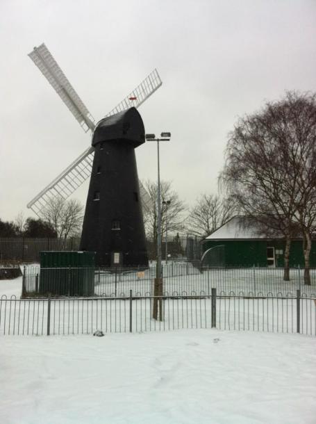 snow windmill by Stephen Lawlor @pigmentofgreen
