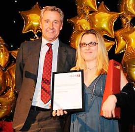 Lambeth College's Journalism Department was recognised as the best fast-track further education course in the UK at last year's NCTJ Skills Conference. Journalism tutor Roz McKenzie was presented with the award by ITV journalist and presenter Mark Austin at the NCTJ Awards Ceremony in November.