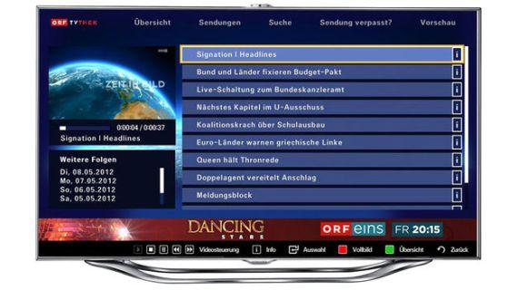 ORF-TVthek on Samsung