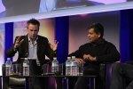 Click's Spencer Kelly with  Liberty Global's Balan Nair