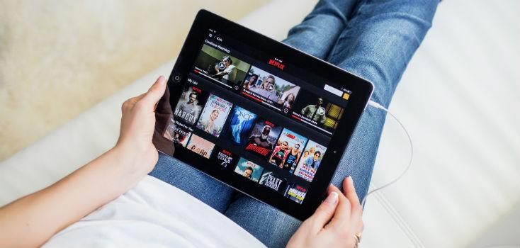 Netflix on Tablet