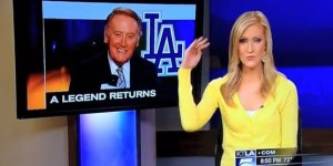 KTLA reporter thinks Vin Scully should get his sh-t together