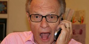 Larry King's Tweeting Process Is Predictably Ass Backwards
