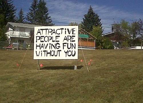 attractive people are having fun without you