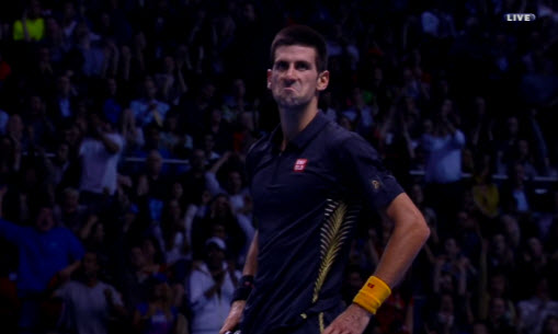 Novak Djokovic face