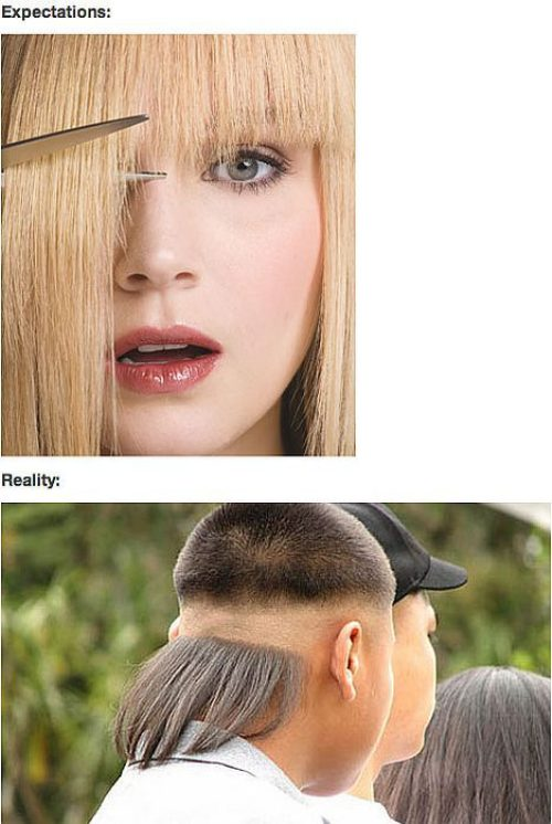 cutting your hair expectations vs reality