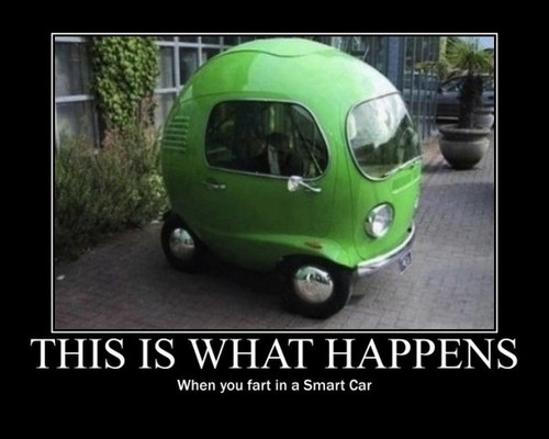 This is what happens when you fart in a smart car