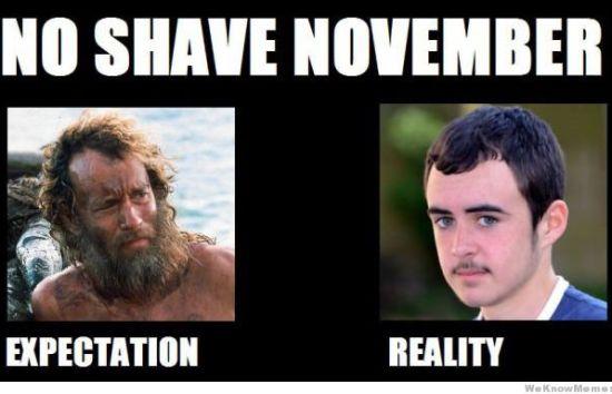 no shave november expectations vs reality