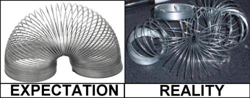 slinky expectation vs reality