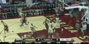Michigan's Jordan Morgan gave us a spectacular blooper last night