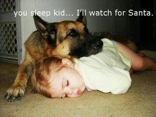 """""""you sleep kid, I'll watch for Santa"""""""