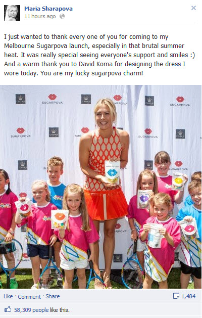 Maria Sharapova Sugarpova