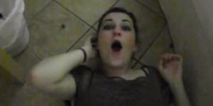 Drunk girl tries the malteser challenge