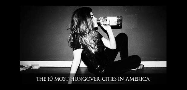 most hungover cities