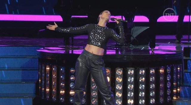 Alicia Keys leather