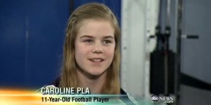 Catholic church allows 11-year-old Philly girl to play football with boys