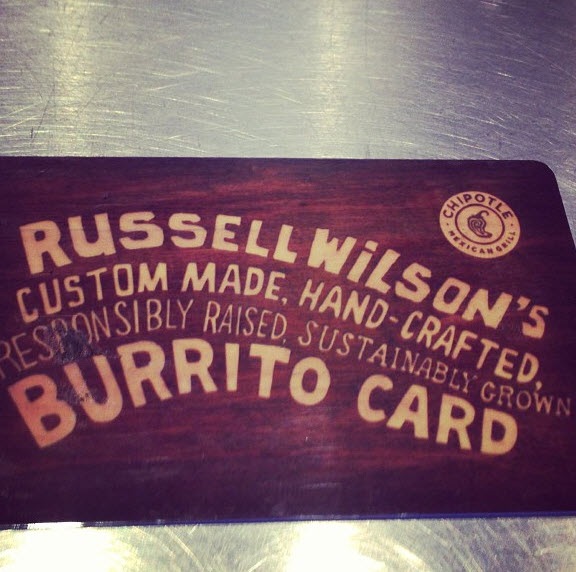 Russell Wilson burritos for life
