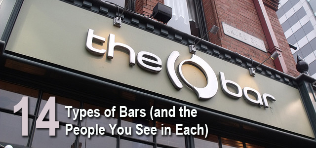 Types of Bars and People in Them