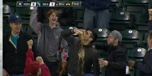 Man catches foul ball in beer, chugs it