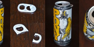 How to put a shark fin in your beer can