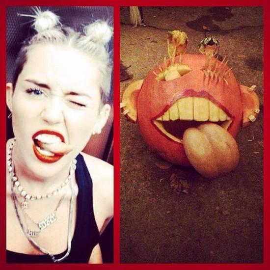 Miley Cyrus pumpkin