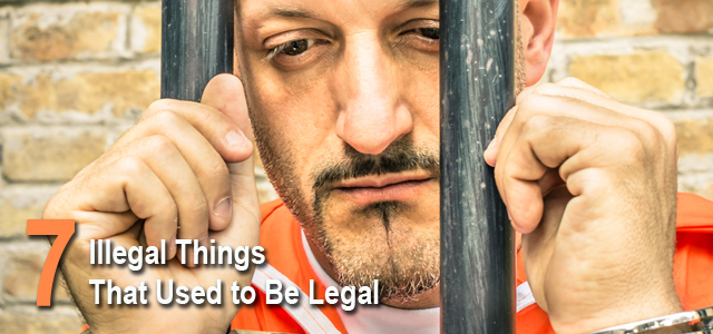 things that used to be legal list