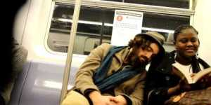 Apparently many people are cool with strangers sleeping on them on the subway