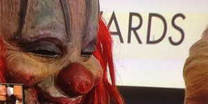 By the way, there was a nightmare-inducing clown on the Grammys red carpet last night