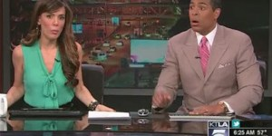 California earthquake isn't funny but this news anchor's reaction is hilarious